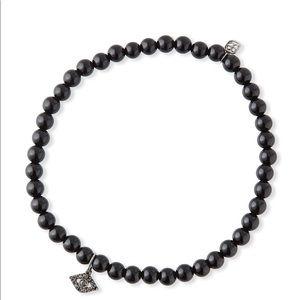 Black onyx evil eye bracelet